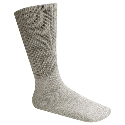 Falari Diabetic Socks Men Unisex Size 9-11 Grey 6 Pairs