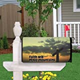VictoryStore Mailbox Cover Outdoor Decoration, Faith Will Move Mountains, Religious Design 7, Magnetic Mailbox Cover