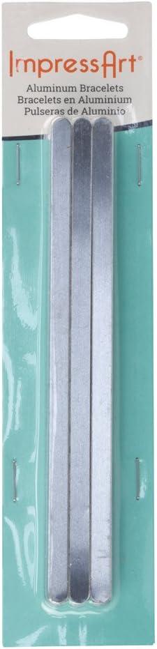 1//4 Wide Pkg of 12 ImpressArt Stamping Blanks Bracelet Blanks Aluminium