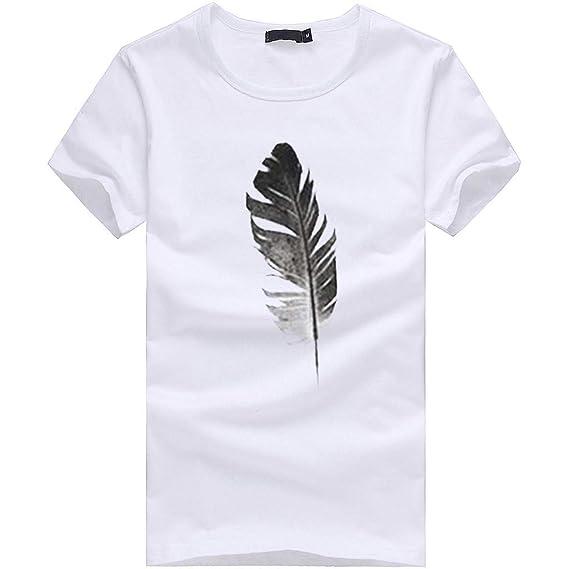 20cb9fb311801 T-Shirt Coupe Droite Col Ras du Cou Manches Courtes Femme, Lonshell ...
