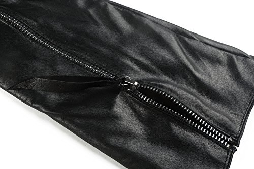Ambesi Women's Touchscreen Opera Long Lambskin Leather Winter Gloves Black M