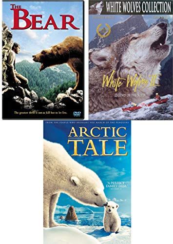 Mountains Bears & Adventure Triple Movie Arctic Tale + The Bear & White Wolves 2: Legend of the Wild 3 DVD Set