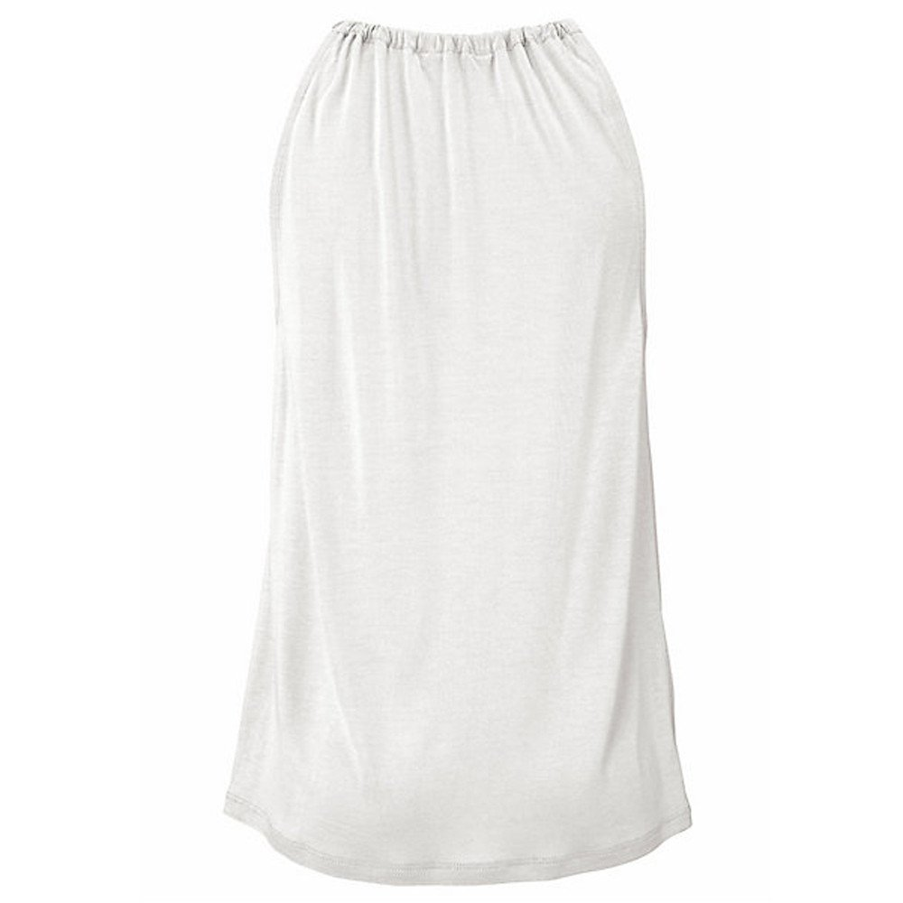 Womens Solid High Neck Vest Top Summer Sleeveless T Shirt Blouse Casual Hollow Tank Tops(White,L) by WYTong Clearance! (Image #4)