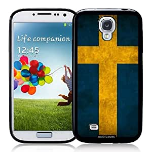 Flag of Sweden Grunge - Protective Designer BLACK Case - Fits Samsung Galaxy S4 i9500