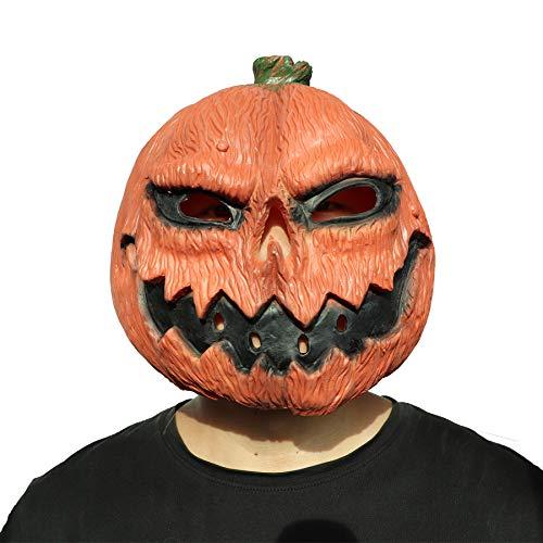 Halloween Before Christmas Meme (ifkoo Pumpkin Mask Deluxe Novelty Halloween Costume Party Props Pumpkin Latex Head Mask)