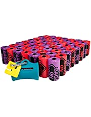 Bags on Board Odor Control Dog Poop Bags and Dispenser | Strong, Leak Proof Dog Waste Bags | Triple Berry Scent | 9 x14 Inches, 900 Waste Pickup Bags (3203940074)
