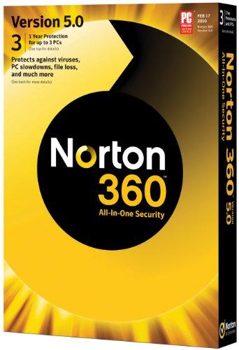 Norton 360 5 0 1 User 3Pcs  Old Version