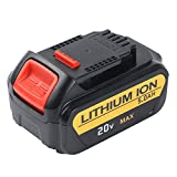 Enegitech 2 Pack 20V 5.0Ah Lithium Battery for Dewalt Max XR DCB204 DCB205 DCB205-2 DCB200 DCB180 DCD985B DCD771C2 DCS355D1 DCD790B High Capacity Cordless Power Tools