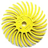 3M Radial Bristle Discs 1'' with 1/8'' Hole Size 80 Grit Yellow 6 PLY