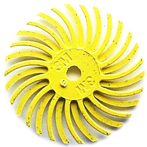 3M Radial Bristle Discs 1'' with 1/8'' Hole Size 80 Grit Yellow 24 PLY by ACE (Image #1)