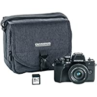 Olympus OM-D E-M10 Mark III camera kit with 14-42mm EZ lens (black), Camera Bag & Memory Card, Wi-Fi enabled, 4K video