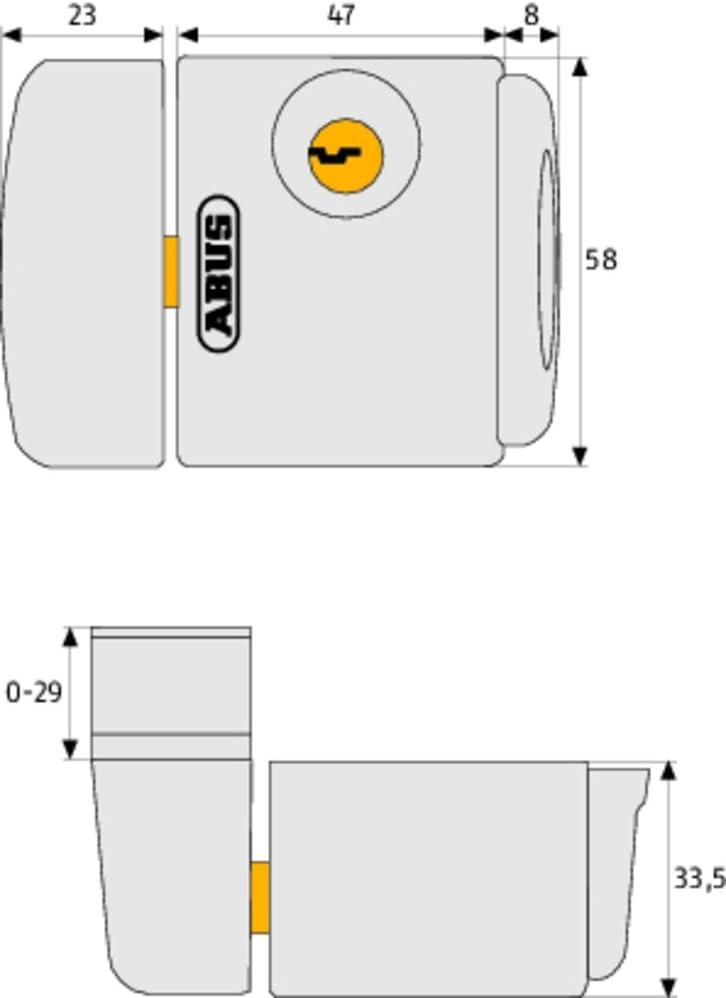 ABUS Fenster-Zusatzschloss FTS3003 31737 wei/ß gleichschlie/ßend