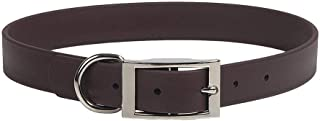 product image for Mendota Pet Durasoft Imitation Leather Collar - Standard Collar - Made in The USA - Waterproof, Odor Resistant - Brown, 1 in x 20 in (Wide)