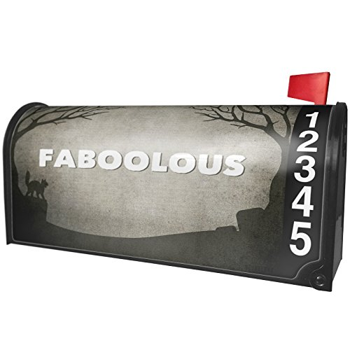 NEONBLOND Faboolous Halloween Graveyard Magnetic Mailbox Cover Custom Numbers -