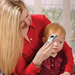 HealthSmart Non-Contact Instant Read Infrared Digital Forehead Thermometer, Gray