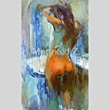 Top Artist Hand-painted Modern Abstract Sexy Girl Oil Painting On Canvas Nude Sex Oil Painting For Wall Decoration
