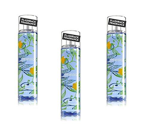 Freesia Body Spray - Bath & Body Works Fine Fragrance Mist Freesia Pack of 3