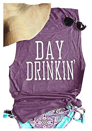 Women's Day Drinkin' Casual Tank Funny Letters