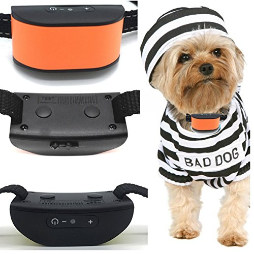 Classic 680-DCV Orange (Rechargeable Vibration) No Hurt Bark Dog Collar ( Mini & Small Dogs 4lbs plus) Bark Training Solution. (NEW SMART CHIP TECHNOLOGY 2018) 100% Lifetime Product Warranty