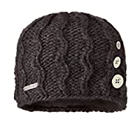 Screamer Tapestry Buttons Beanie, Black, One Size