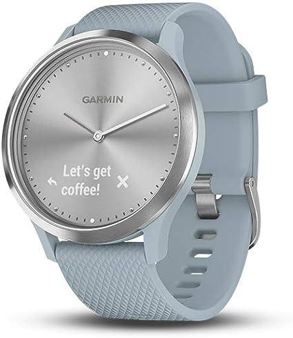 Garmin vívomove HR, Hybrid Smartwatch for Men and Women, Silver/Sea Foam
