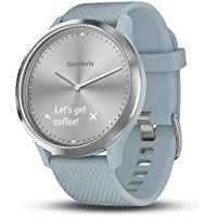Garmin HR Sea Foam with Silver Hardware