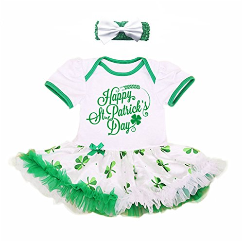 Newborn Baby Girls' St. Patrick's Day Outfit Costume Party Dress (S, (St Patricks Outfits)