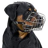 BRONZEDOG Dog Muzzle Wire Basket Rottweiler