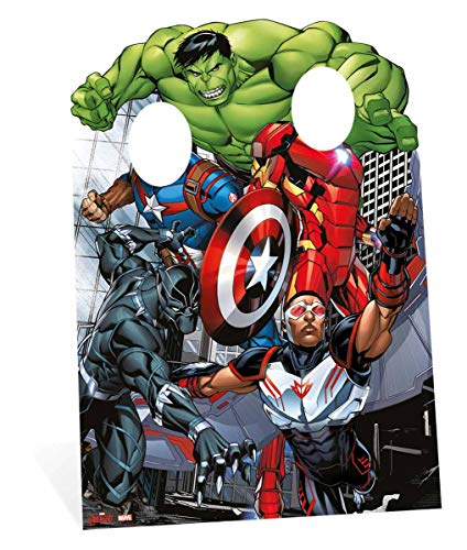 Star Cutouts Marvel Avengers Assemble Child Size Stand in 130cm Tall and 95cm Wide. Comic -