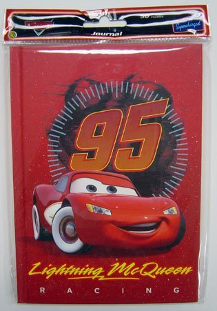 Disney / Pixar CARS Movie Accessory Lightning McQueen Racing Journal