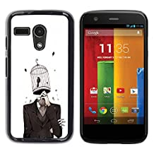 For Motorola Moto G ( 1st Generation ) , S-type country girl devochka ferma - Colorful Printed Hard Protective Back Case Cover Shell Skin