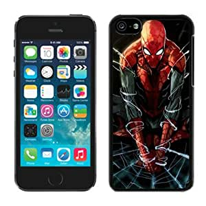 Excellent protection Spiderman Artwork Black Cover Case For iPhone 5C
