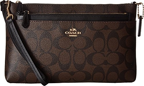 COACH Women's Signature PVC Pop Pouch Im Brown/Black One Size
