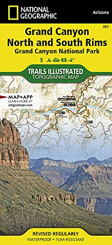 Grand Canyon, North and South Rims [Grand Canyon National Park] (Map Of North And South America Labeled)