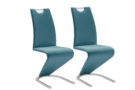 Sedie Blu Petrolio : Robas lund set di sedie cantilever amado verde petrolio