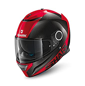 Casco de moto integral Shark Spartan, tamaño M, color rojo