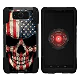 TurtleArmor | Motorola Droid Maxx Case | Droid Ultra Case | XT1080 [Gel Max] Hybrid Dual Layer Hard Shell Kickstand Silicone Case - US Flag Skull
