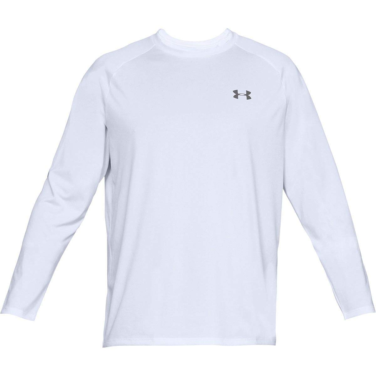 Under Armour Tech 2.0 Long-Sleeve Shirt - Men's White/Graphite, XS