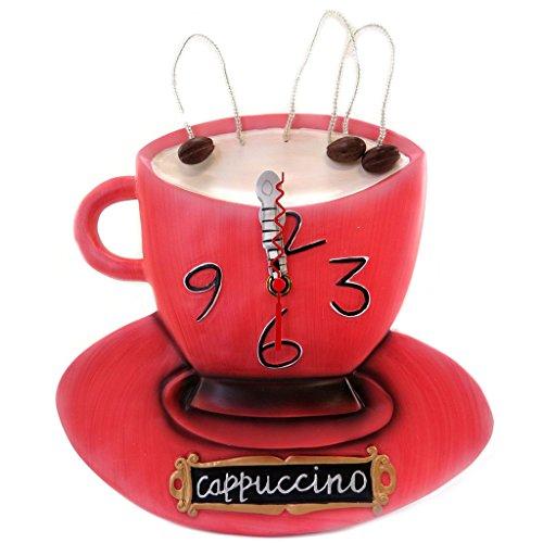 (Wall clock 'Allen Designs'cappuccino red - 39x25 cm)