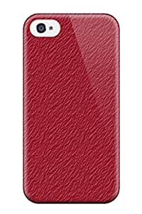 New Solid Red Textured Tpu Case Cover, Anti-scratch EdAUzff1001YpnfX Phone Case For Iphone 4/4s
