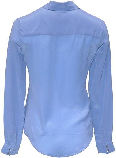 ANA PIRES MILANO Camisa Angelina, 100% Seda, Mujer, Liso: Amazon.es: Ropa y accesorios