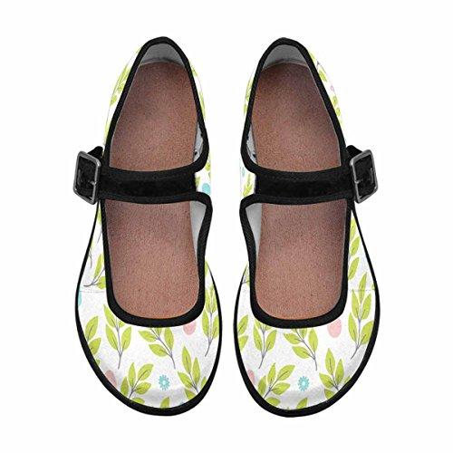 Interestprint Womens Comfort Mary Jane Flats Casual Walking Shoes Multi 7