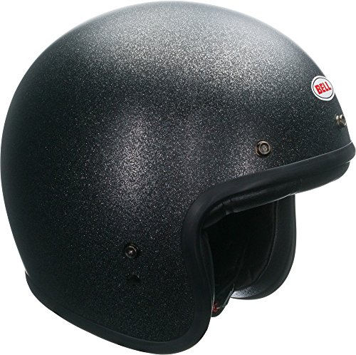 Bell Custom 500 Open-Face Motorcycle Helmet(Solid Matte Black Flake, Large)