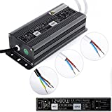 Rosbane(TM) LED Driver Power Supply Lighting Transformer Waterproof IP67 Input AC170-250V DC 12V 80W Adapter for LED Strip LD504