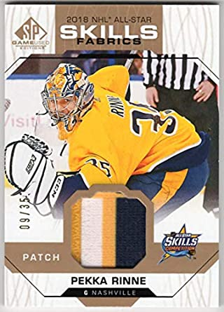 huge discount d4321 edfcd Amazon.com: Pekka Rinne 2018-19 SP Game Used Edition 2018 ...