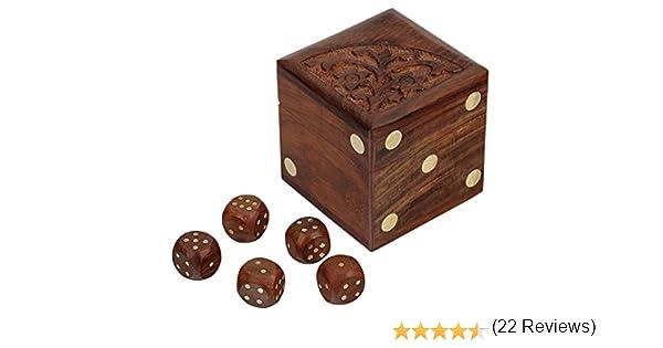 SKAVIJ Cubo De Madera Hecho A Mano con Caja De Almacenamiento para Niños: Amazon.es: Juguetes y juegos