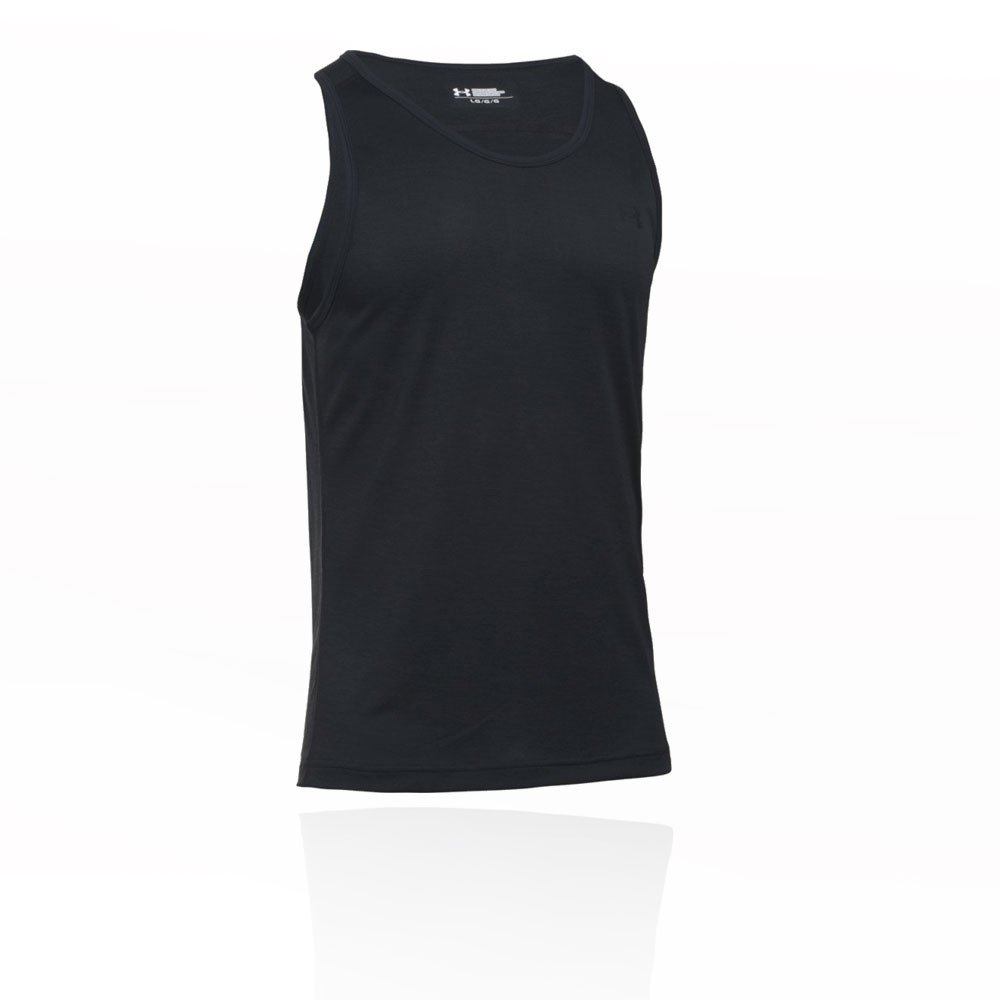 Under Armour Mens UA Tech Tank Top - X-Small - Black/Steel