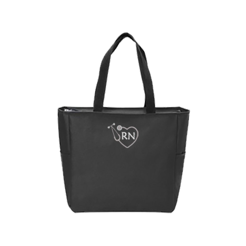 RN Nurse Tote Bag | Gift for Nurse (Black)