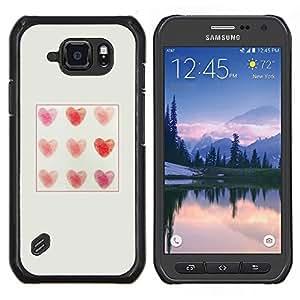 SKCASE Center / Funda Carcasa protectora - Patrón amor impresiones - Samsung Galaxy S6 Active G890A