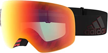 director poco bibliotecario  adidas BACKLAND SPHERICAL AD86 BLACK RED/LIGHT RED MIRROR AF cat. unisex  Ski goggles: Amazon.co.uk: Sports & Outdoors
